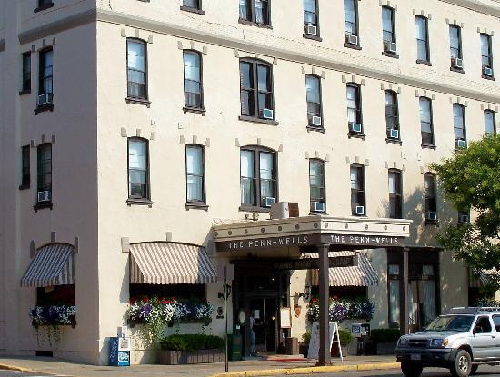 Inviting Exterior Of Historic Penn Wells Hotel
