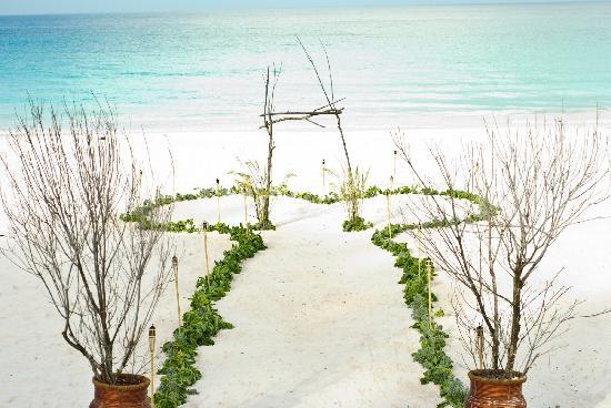 Runaway Hill Club: Our ceremony setup on the beach at Runaway Hill