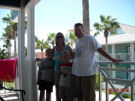 Seashell Village Resort: US on balcony -204