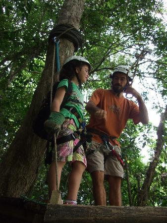 Batey Zipline Adventure: Jorge instructing my 8 YO daughter