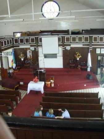 San Andres Guided Segway Tours: the inside of the first baptist church on the island