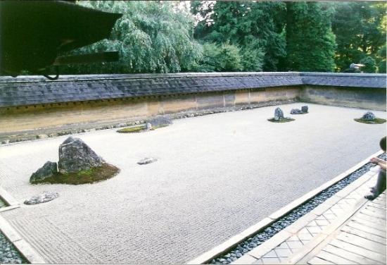Kyoto il giardino di pietra foto di ryoanji temple kyoto
