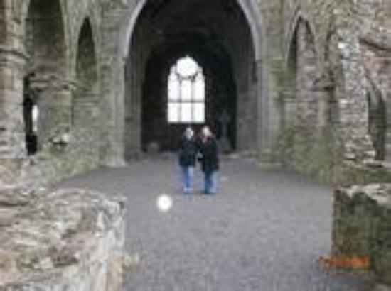 "Kilkenny, Ireland: me and Crystal at jerrpoint abbey with an ""orb"""