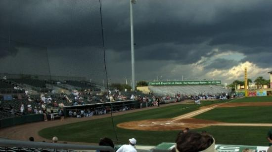 Roger Dean Stadium: Storms Rolling In