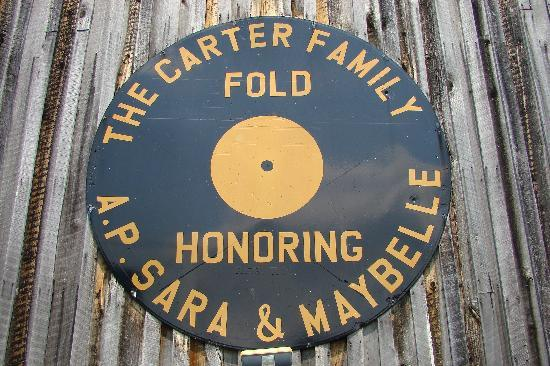 The Carter Fold: Sign on the side of the Carter Family Fold. It's actually a Texaco sign that's been painted over