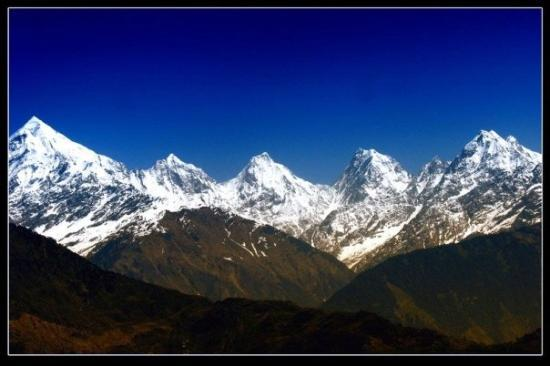 Kumaon, India: Panchchulli range of peaks from Munsiyari