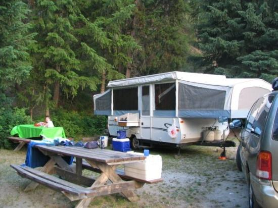 "Our ""summer home"" parked at LoLo Hot Springs, Montana.  (2005)"