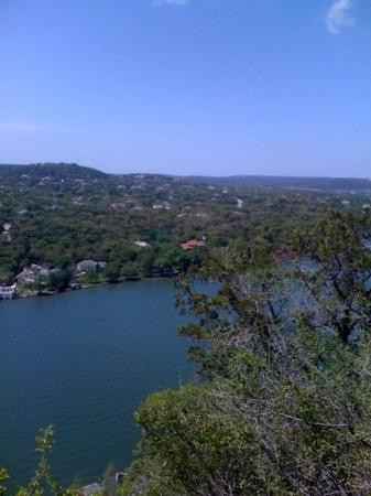 Mount Bonnell: View of Lake Austin from Mt. Bonnell