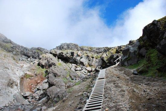 Mount Taranaki: done with the rock then stairs