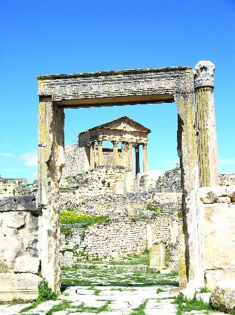 Dougga : The Large Temple at the forum