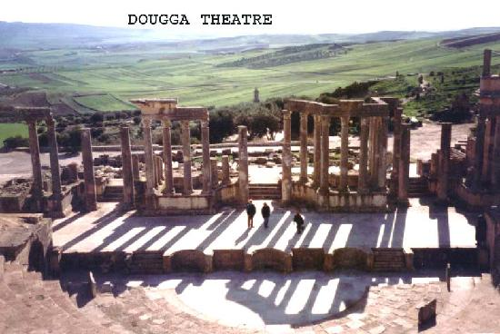 Dougga : Another shot of the Theatre