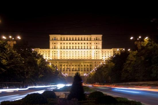 Bucharest, Romania: The Parliament by night