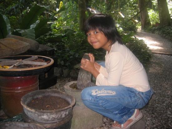 Tropical Spice Garden: Finaz nak masak ape tu? Batu Lesung besarnye.