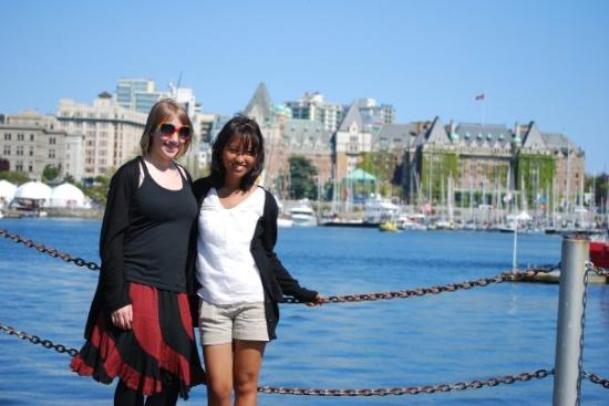 Empress Hotel National Historic Site of Canada: with my wonderful sister
