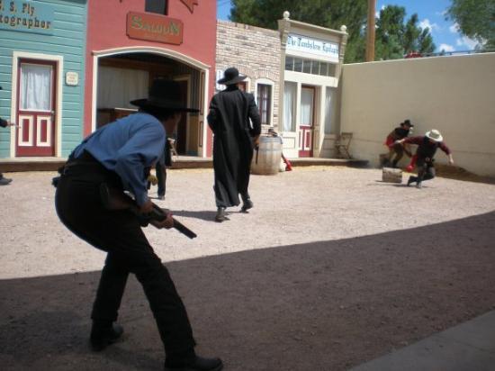 O.K. Corral: Shootout at the OK Corral reenactment in Tombstone, AZ