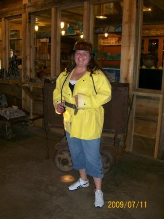 Queen Mine Tours: Me in my mining gear. It was 104 degrees on the surface (thus the red face!). It's 47 degrees in