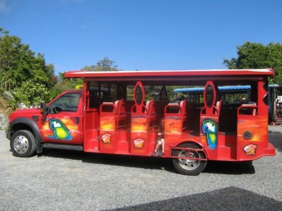 St. Thomas: our tour bus on St.Thomas