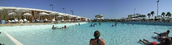 Kervansaray Lara Hotel : Panoramic view from the wave pool