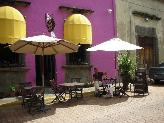 Rosa Morada Tlaquepaque: In front of the hotel