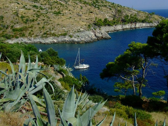 Hvar, Croácia: The view from the dirt path down to the beach