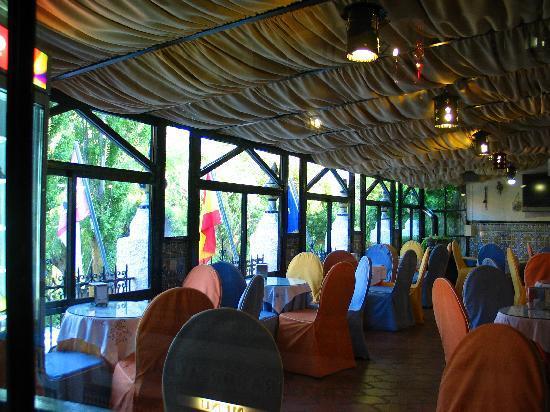 Ossa de Montiel, إسبانيا: Cafetería con vistas a la Laguna San Pedra