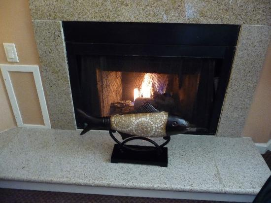 Mariposa Inn and Suites: great gas fireplace