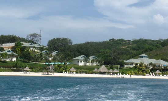 Turquoise Bay Dive & Beach Resort: Resort from water
