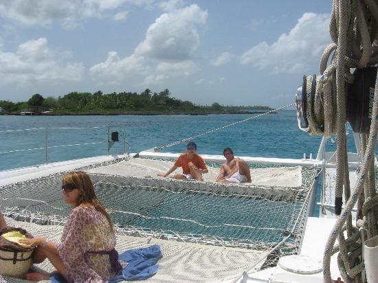 Isla Saona: En el catamaran