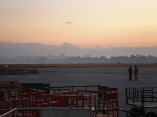 Katmandou, Népal : Early morning before the flight to lukla