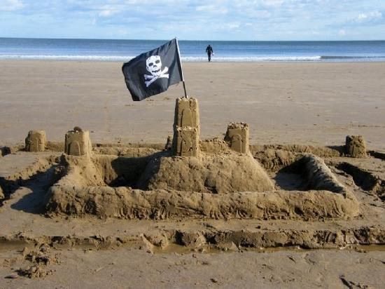 Ashburton House: A silly sandcastle we built on the beach
