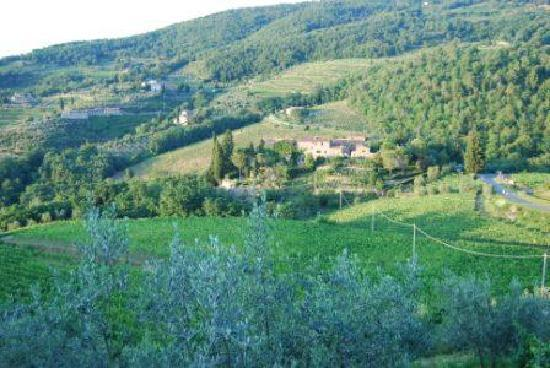 Castello di Lamole: One of the views of the Castello from village of Lamole