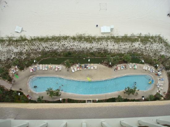 Calypso Resort & Towers: The pool, looking down from our condo