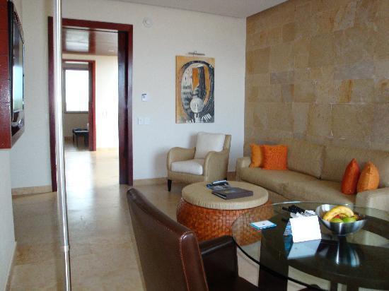 Rosewood Mayakoba: the living room of the ocean suite