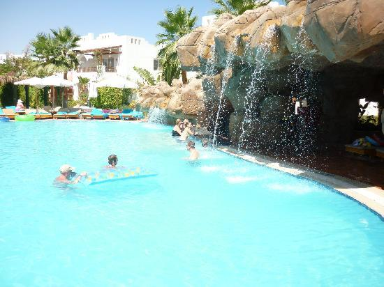 Delta Sharm Resort: One of the glorious pools, with waterfalls.