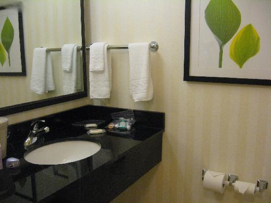 Fairfield Marriott Titusville Kennedy Space Center: Lovely, clean bathroom