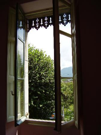 Chateau De La Lanette: view from window in the pink room