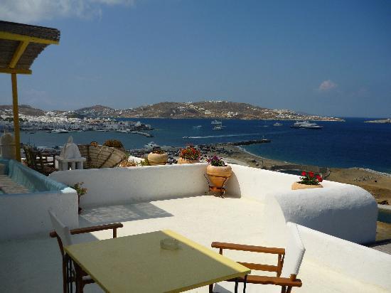 Omiros Hotel: La terraza