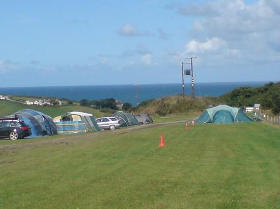 Widemouth Bay Caravan Park:                                                       RALLY FIELD
