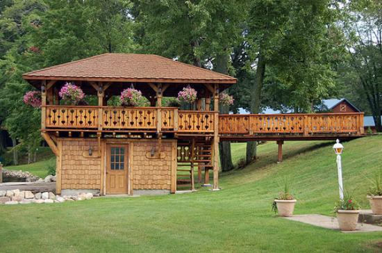 White Cloud, MI: gazebo