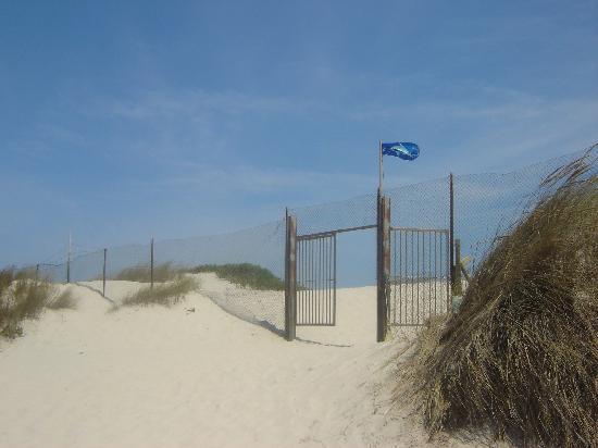Parque de Campismo da Costa Nova: Acceso a la playa