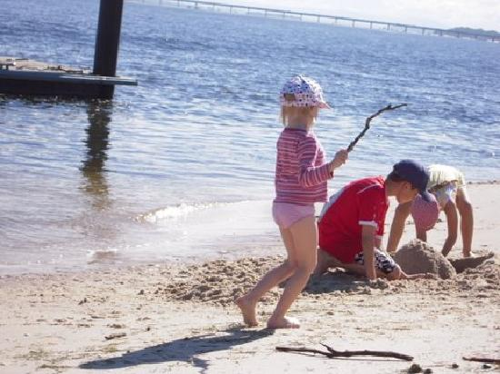 On the Bay Apartments - Bribie Island: Playing on the beach
