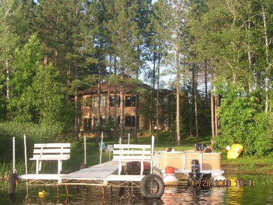 My Lake Home Inn and Tree House: The home view from the water