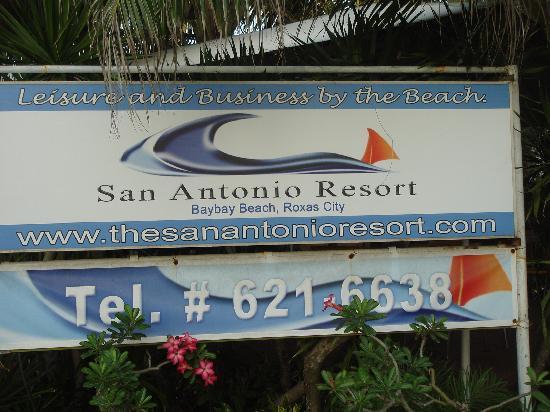 San Antonio Resort: 玄関のサインボード