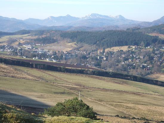 """Bay Highland Hotel: view of strathpeffer from """"cats back"""""""