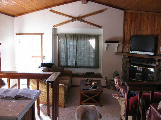 Big Bear Cool Cabins: Interior w/very content occupant!!
