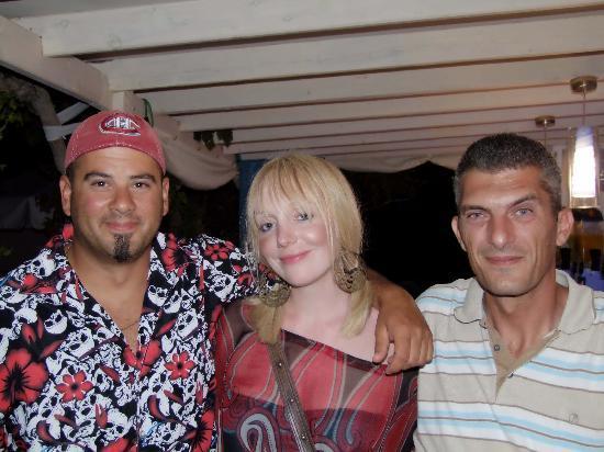 Silia Pool Bar: Tito,Emma and the boss man, George