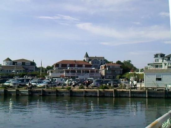Block Island Ferry: The ferry dock at Block Island. At the top of the Ferry Dock is a restaurant that sells fresh lo