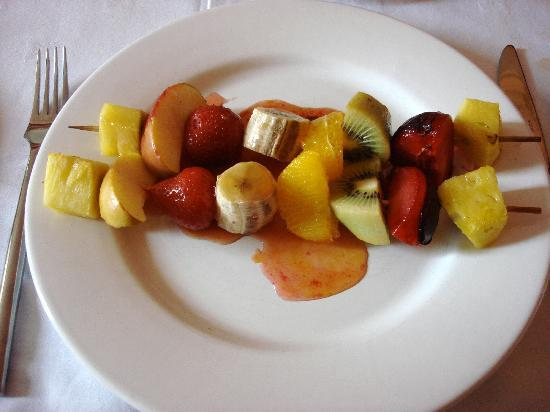 The Old Rectory Bed & Breakfast: The Old Rectory (fruit kebabs at breakfast)