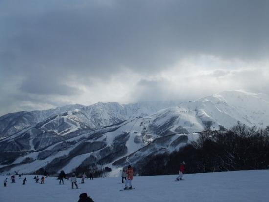 Hakuba-mura, Japan: the view from the top of our mountain.