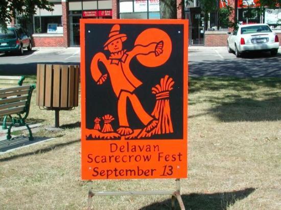 Scarecrow fest, Delavan, Wisconsin.